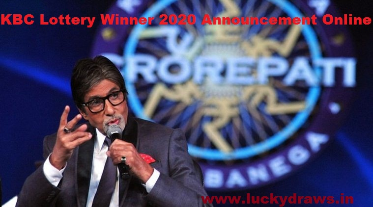 KBC Lottery Winner 2020 Announcement Online