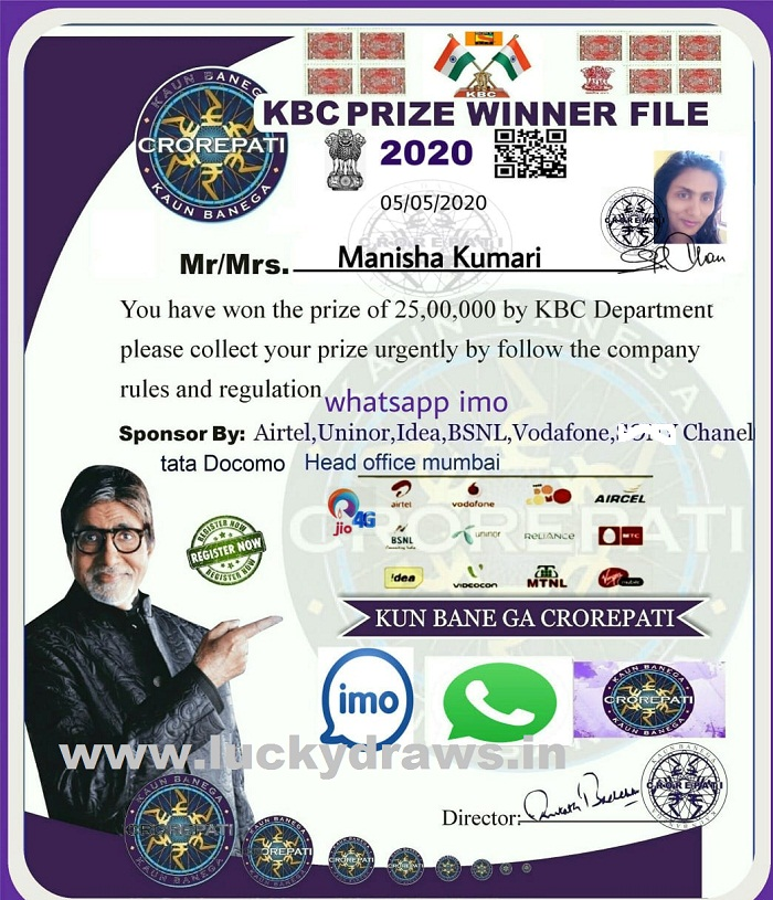 KBC Whatsapp Winner File