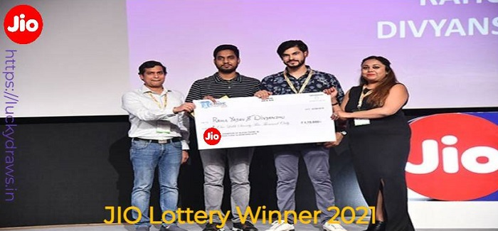 JIO Lottery Winner 2021